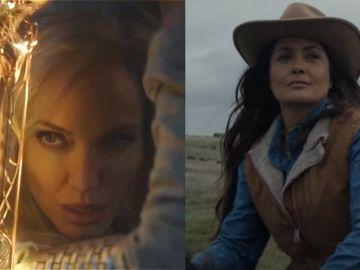 Angelina Jolie y Salma Hayek en 'Eternos'