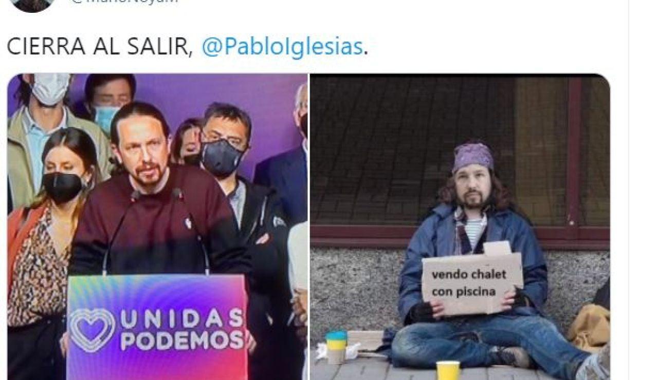 Los mejores memes tras la dimisión de Pablo Iglesias de sus cargos en Unidas Podemos