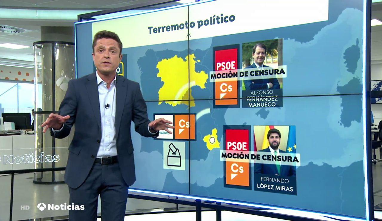 El terremoto político originado en Murcia desencadena la victoria de Ayuso en Madrid