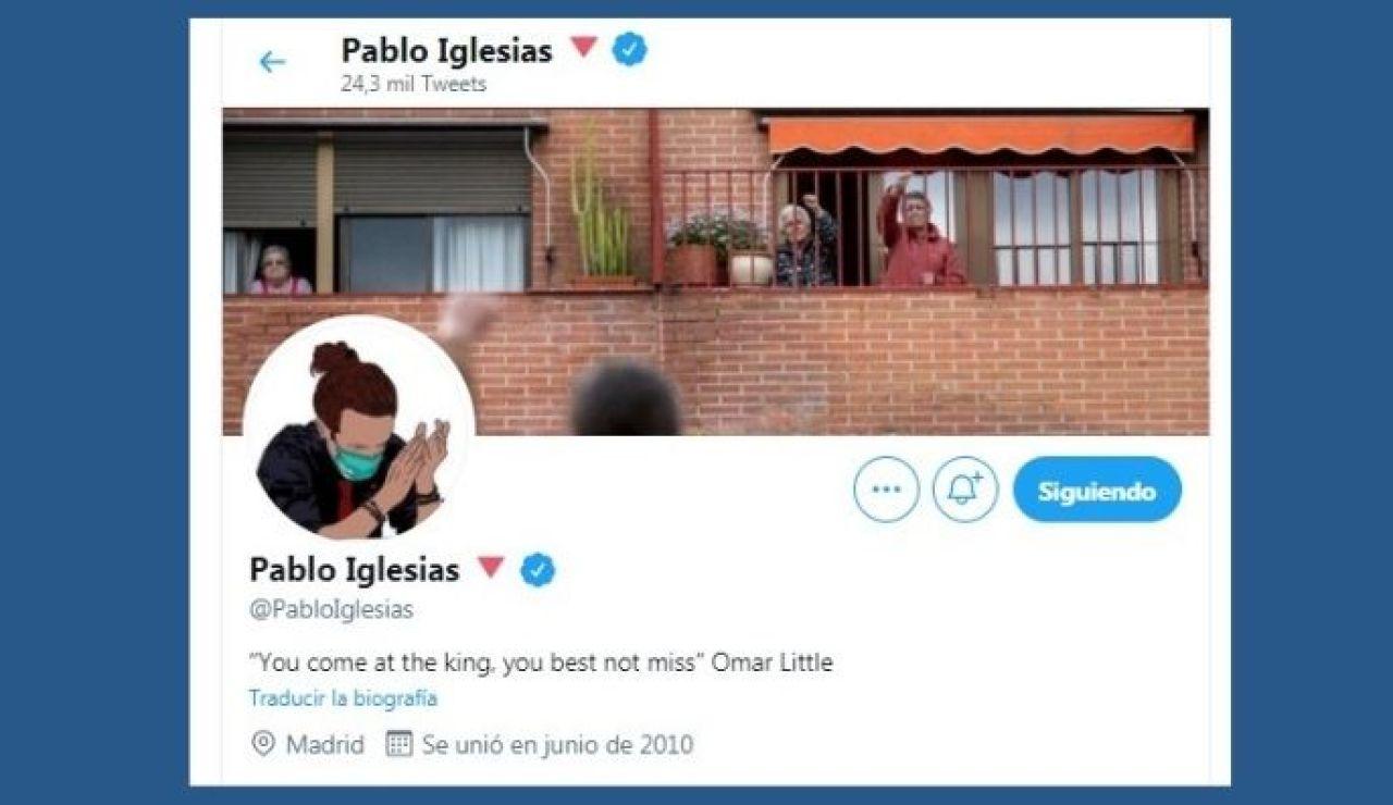 """Pablo Iglesias actualiza su perfil de Twitter y escribe un enigmático mensaje: """"Si vienes a por el rey, mejor no falles"""""""