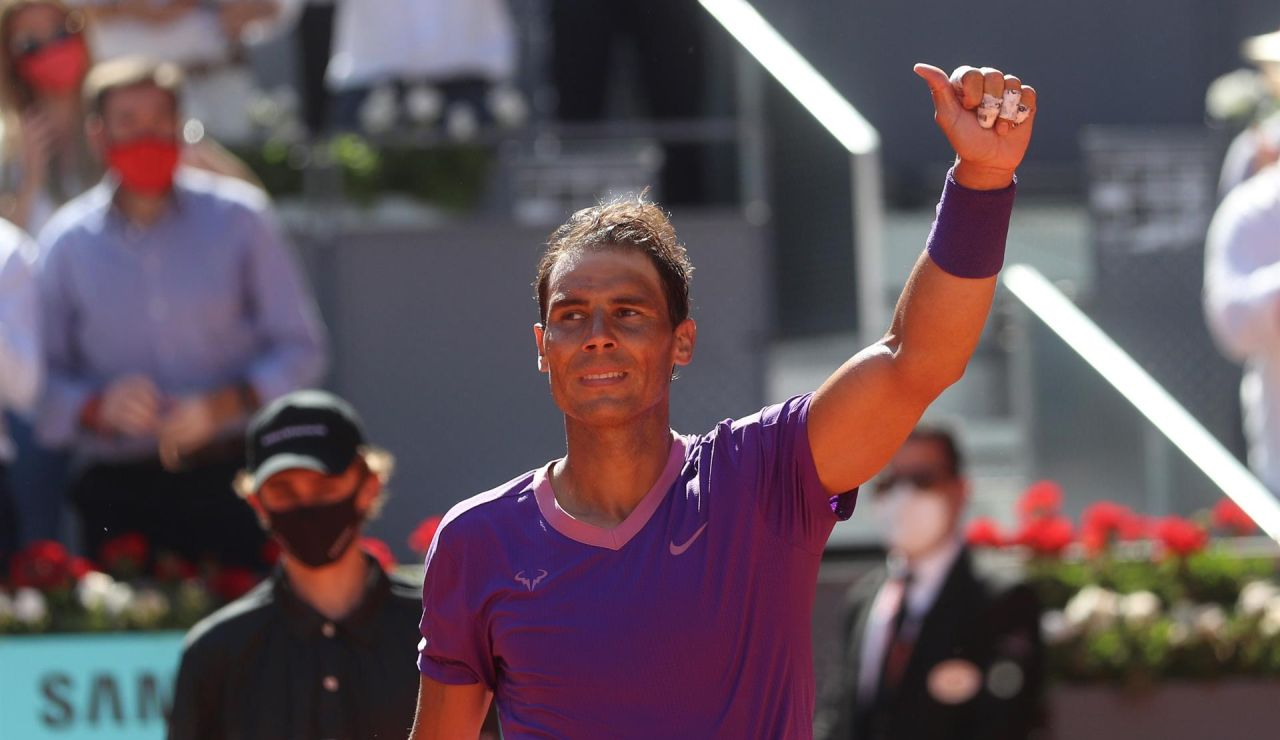 Rafa Nadal se deshace de Popyrin y ya está en cuartos del Mutua Madrid Open