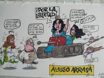 La victoria de Ayuso, en la viñeta gráfica de Alfredo Boto-Hervás
