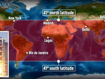 Alerta por la reentrada sin control de un cohete chino en la Tierra
