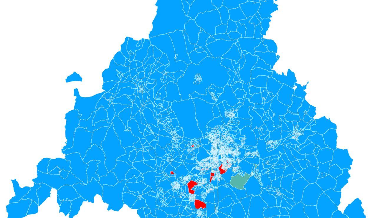 ¿A quiénes votaron tus vecinos en las elecciones de Madrid? Consulta este mapa