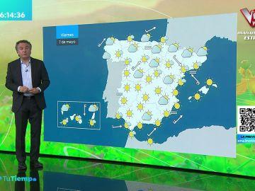 La previsión del tiempo hoy: Suben las temperaturas el interior con lluvias débiles en el Cantábrico
