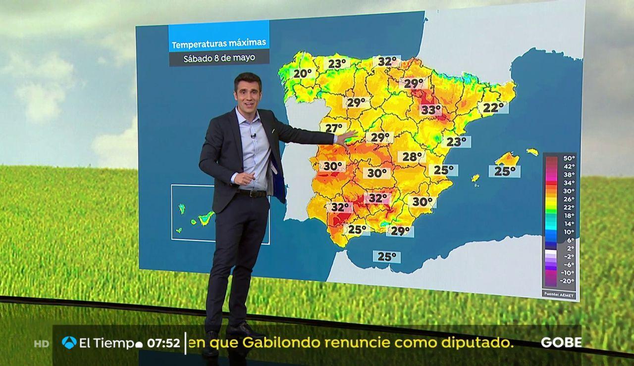 La previsión del tiempo hoy: Ascenso de temperaturas en el interior con lluvias débiles en el Cantábrico
