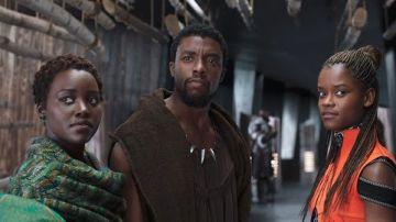 Lupita Nyong'o, Chadwick Boseman y Letitia Wright en 'Black Panther'