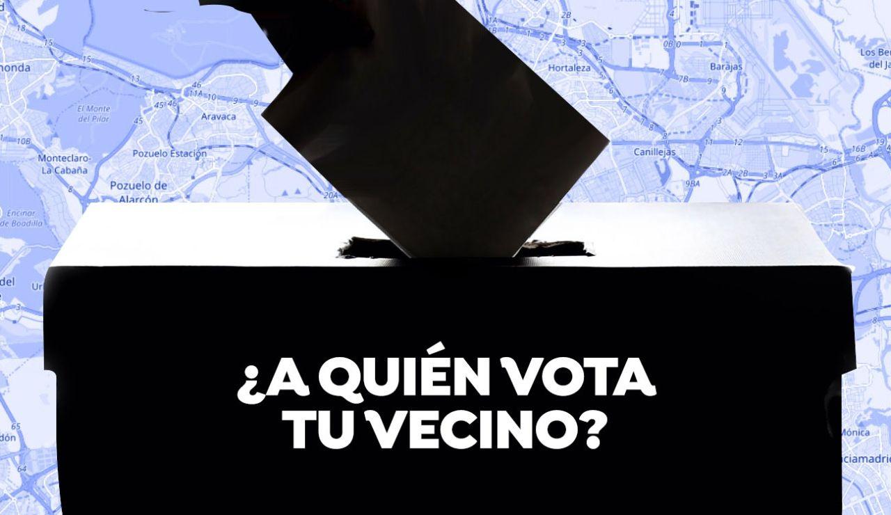 ¿A quién votó tu vecino? Resultado de las elecciones de Madrid por calles