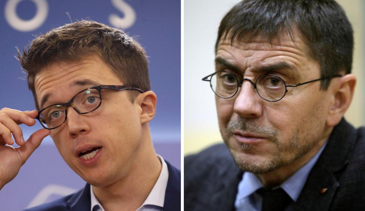 Íñigo Errejón y Juan Carlos Monedero