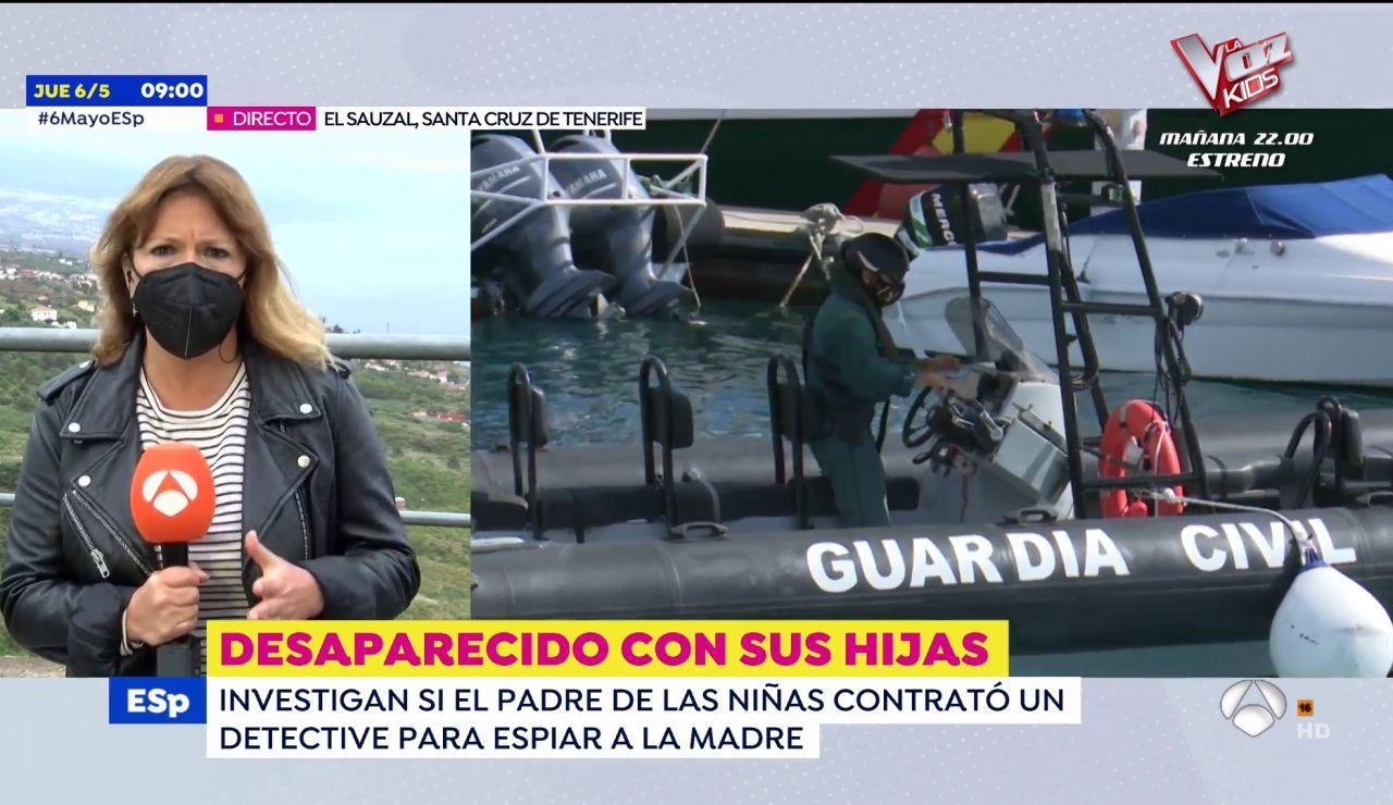 Una embarcación con sónar buscará en el fondo del mar al padre desaparecido en Tenerife con sus hijas