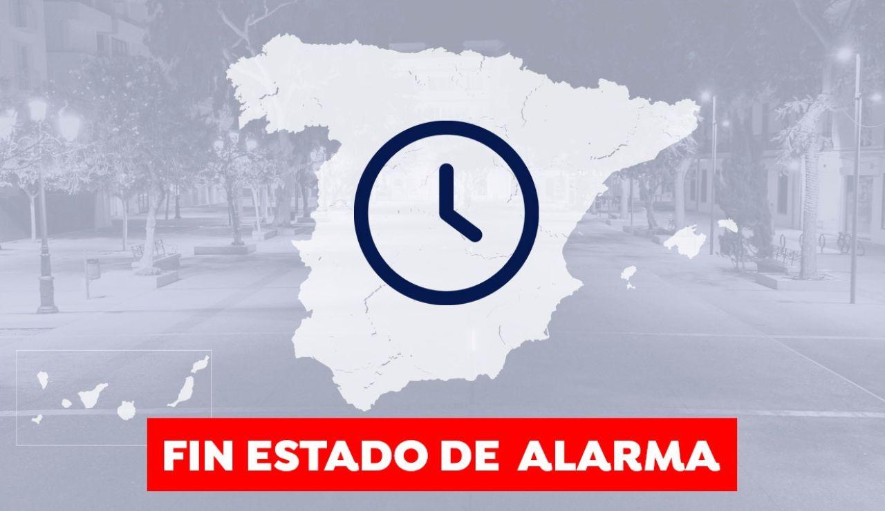 Qué día y a qué hora termina el estado de alarma en España