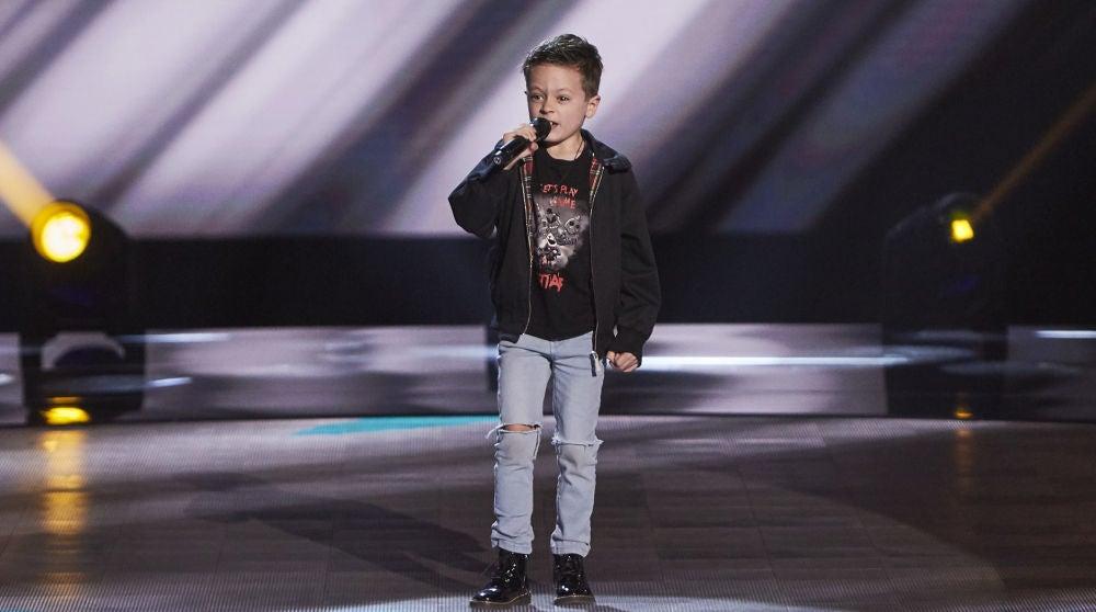 Jesús del Río canta 'Highway to hell' en las Audiciones a ciegas de 'La Voz Kids'