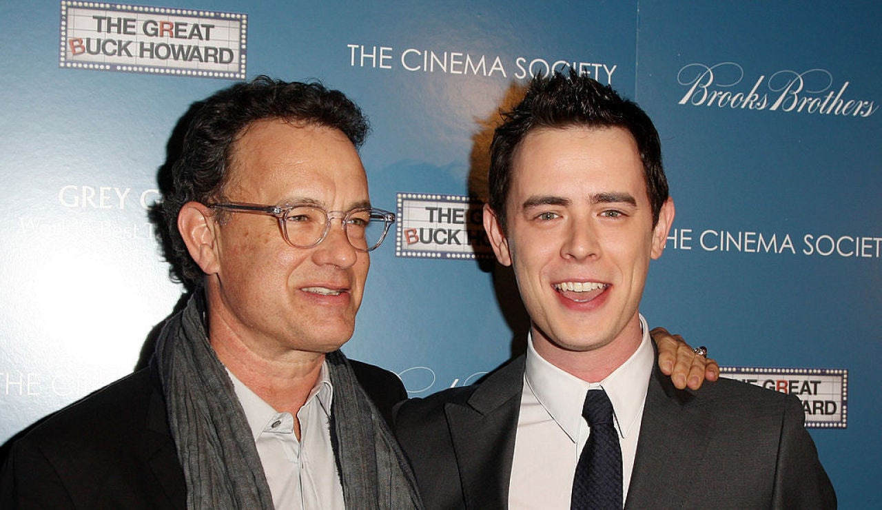 Tom Hanks y su hijo Colin Hanks