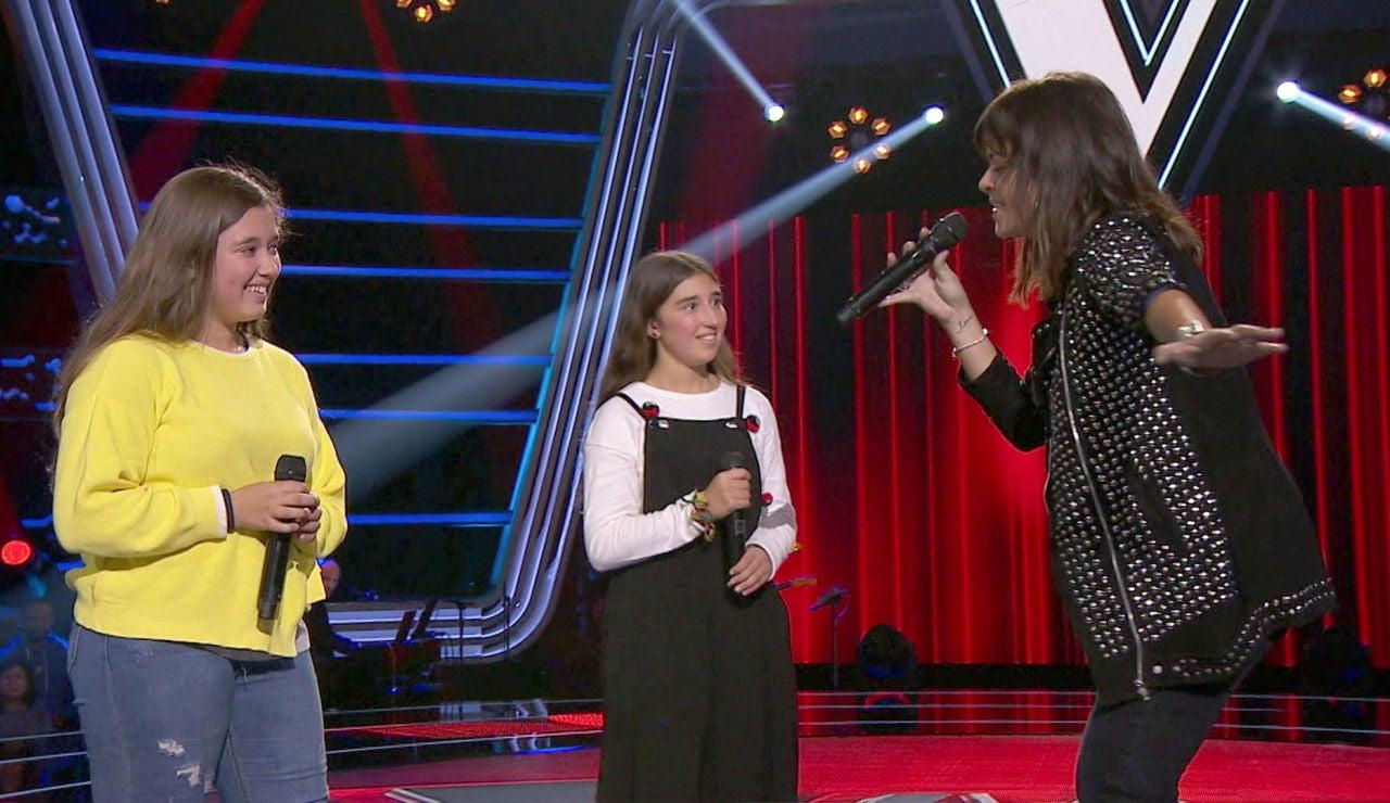 Vanesa Martín canta con Rocío y Lola Avilés el tema 'No te pude retener' en las Audiciones a ciegas de 'La Voz Kids'