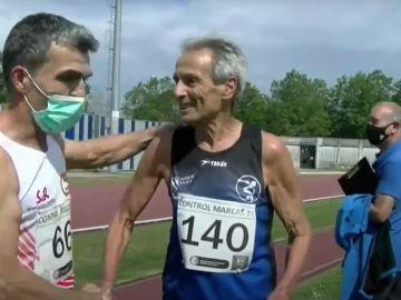 Pepín Rioseco, el ferrolano de 80 años que ha batido el récord del mundo de 800 metros