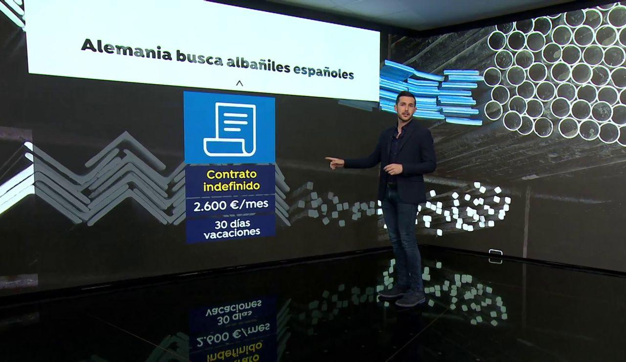 Alemania busca albañiles españoles por 2.600 euros al mes