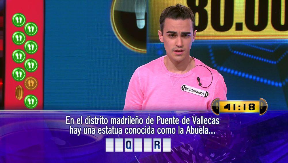 Dos preguntas y cuarenta segundos: Borja juega por 80.001 euros el Duelo Final de '¡Ahora caigo!'