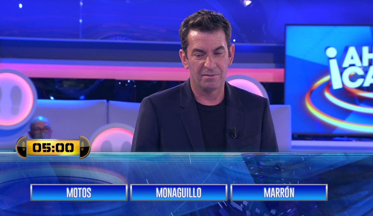 ¡Le ayudó sin saberlo! Arturo Valls le da una pista en el 'entre tres' a un concursante de '¡Ahora caigo!'