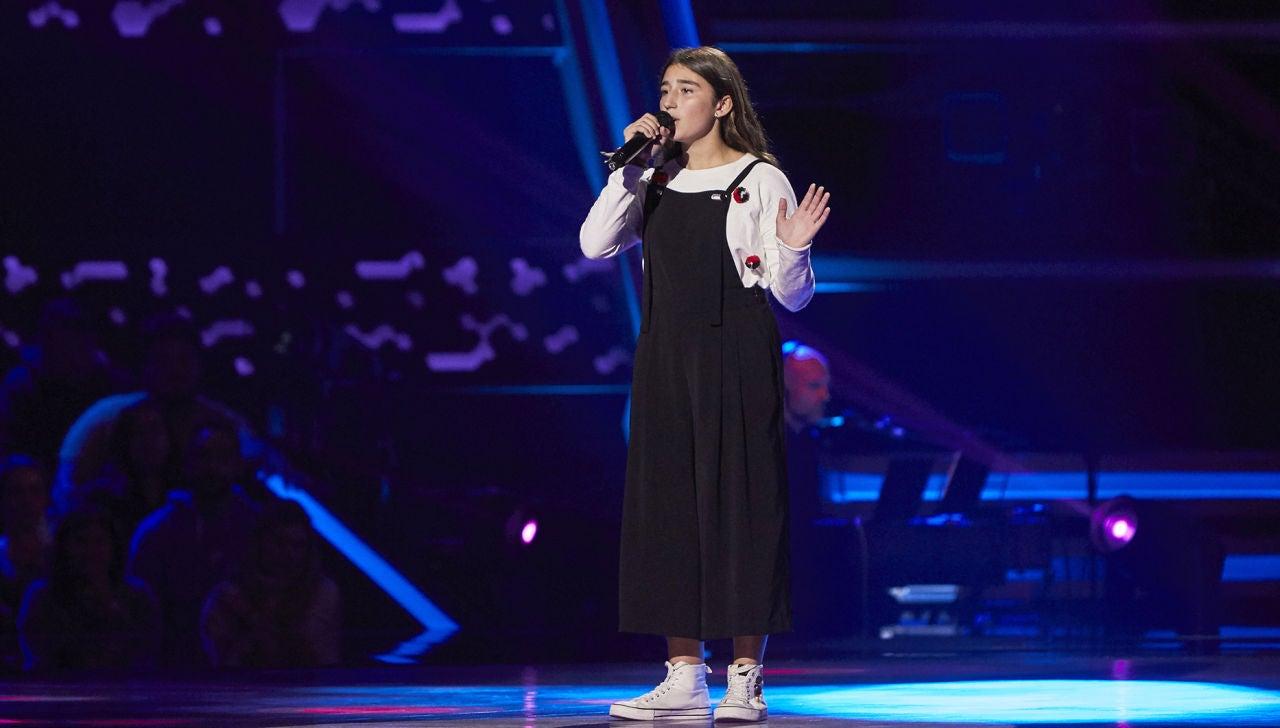 Lola Avilés canta 'Mi amante amigo' en las Audiciones a ciegas de 'La Voz Kids'