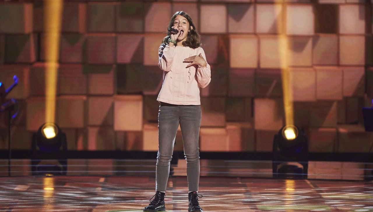 Carmen Asencio canta 'Valerie' en las Audiciones a ciegas de 'La Voz Kids'