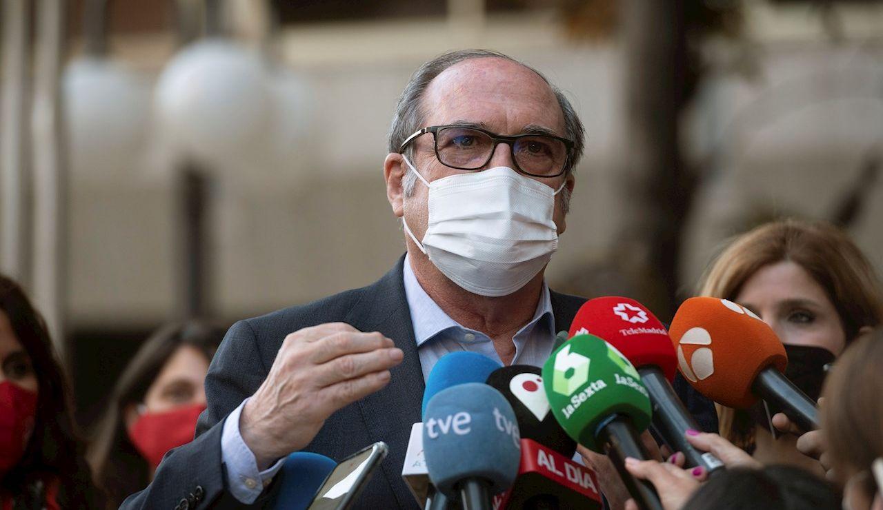 El candidato a la presidencia de la Comunidad de Madrid, Ángel Gabilondo