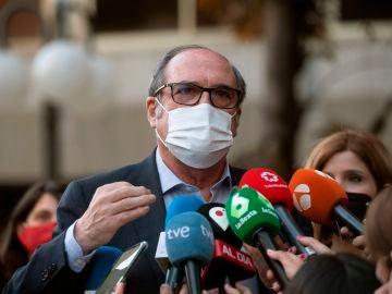 El candidato a la presidencia de la Comunidad de Madrid, Ángel Gabilondo.