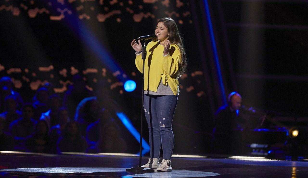 Rocío Avilés canta 'No te pude retener' en las Audiciones a ciegas de 'La Voz Kids'