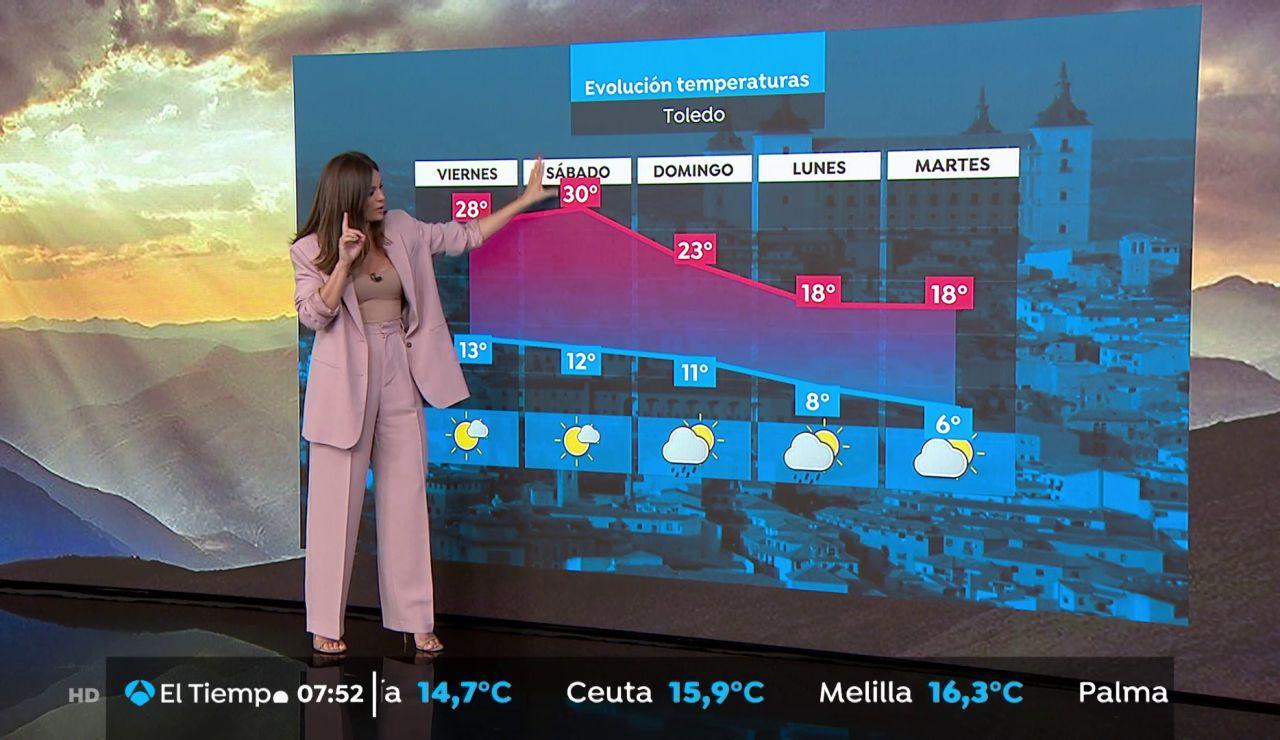 La previsión del tiempo hoy: Ascenso generalizado de temperaturas con Murcia, Huelva y Lleida por encima de los 30 grados