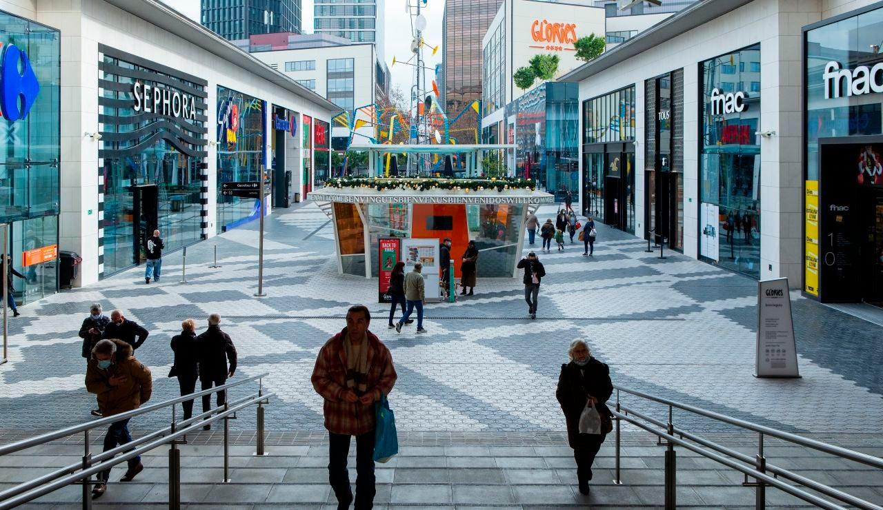 El centro comercial Glories de Barcelona