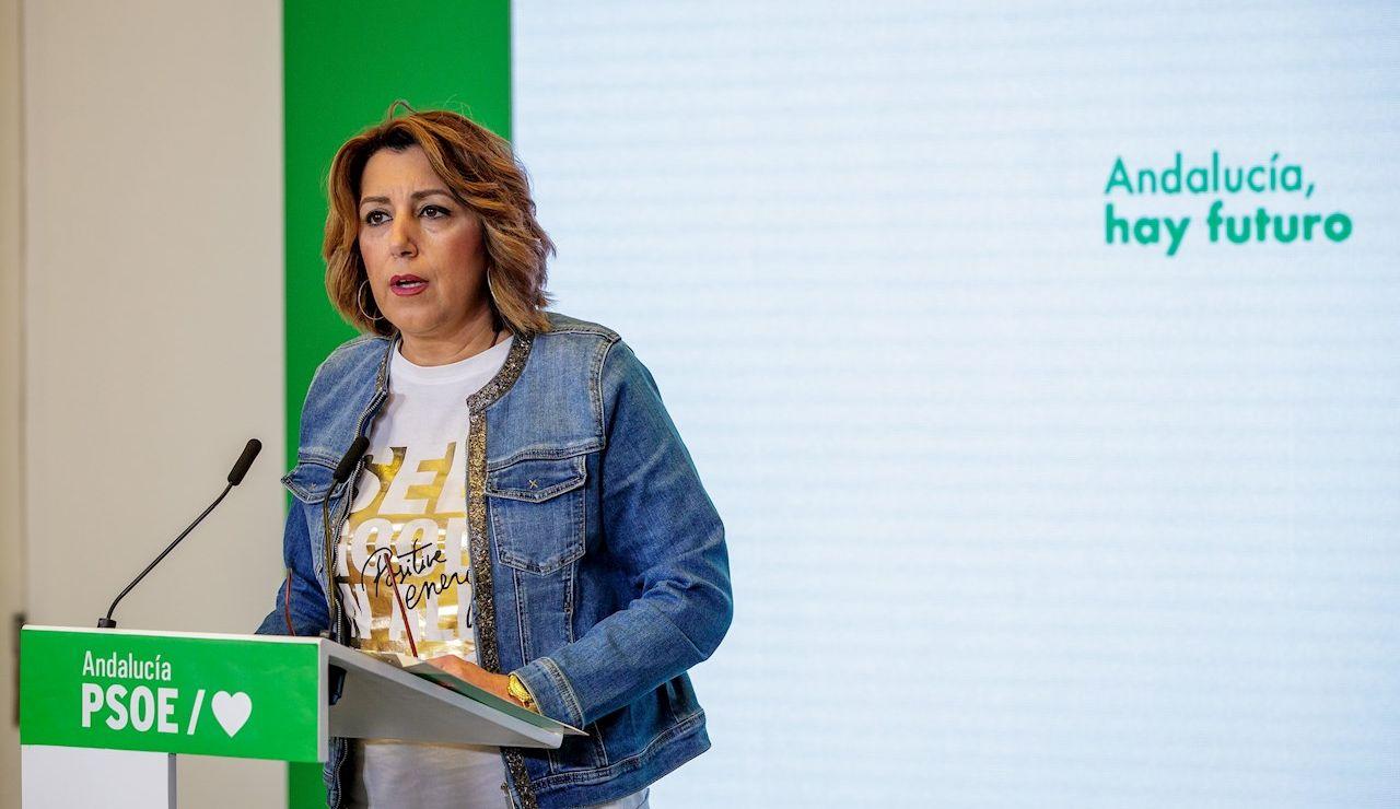 La secretaria general del PSOE andaluz, Susana Díaz