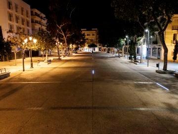 Calle de Ibiza tras el toque de queda por el estado de alarma