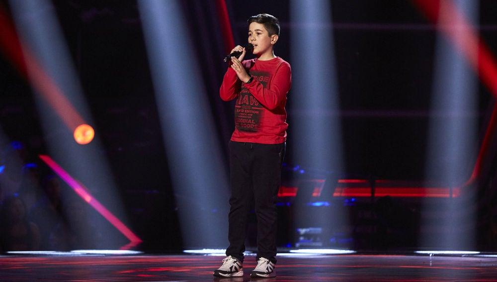 Lukas Urdea canta 'Mi princesa' en las Audiciones a ciegas de 'La Voz Kids'