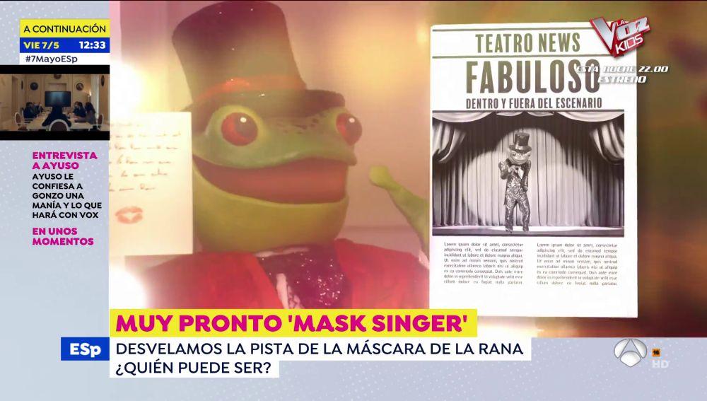 """La pista sobre la Rana de 'Mask Singer': """"Todo el mundo quiere saber qué chaqueta elige un tipo elegante como yo"""""""