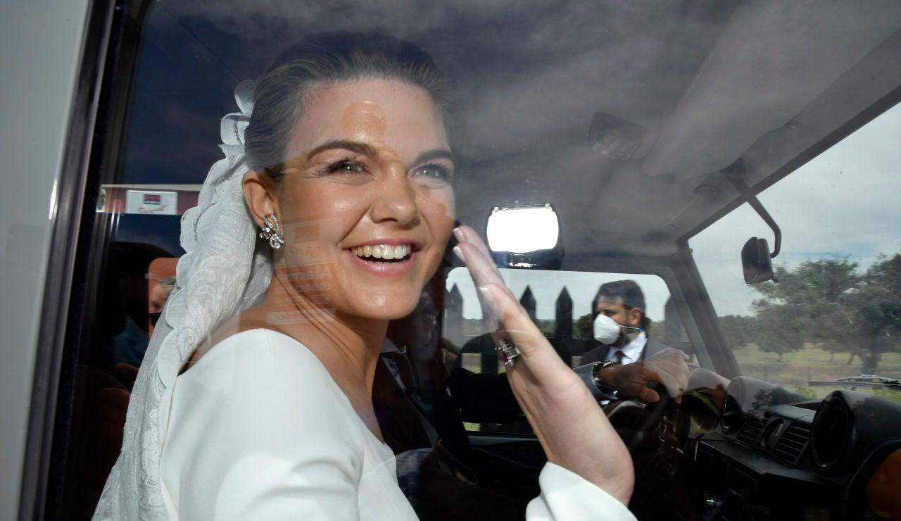 Alejandra Ruiz en su boda