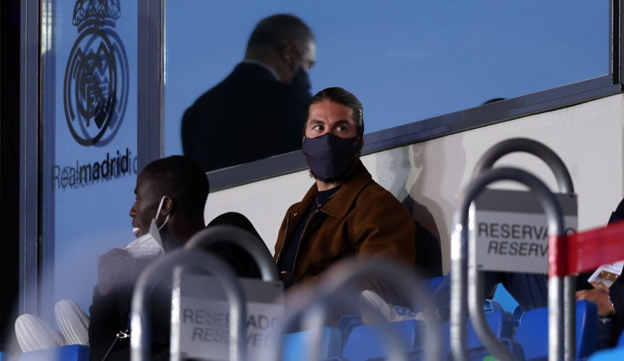 Sergio Ramos no entrena con sus compañeros y será baja ante el Sevilla
