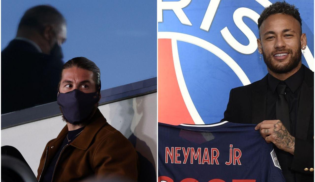 Sergio Ramos siembra la polémica tras aplaudir en Instagram la renovación de Neymar en el PSG
