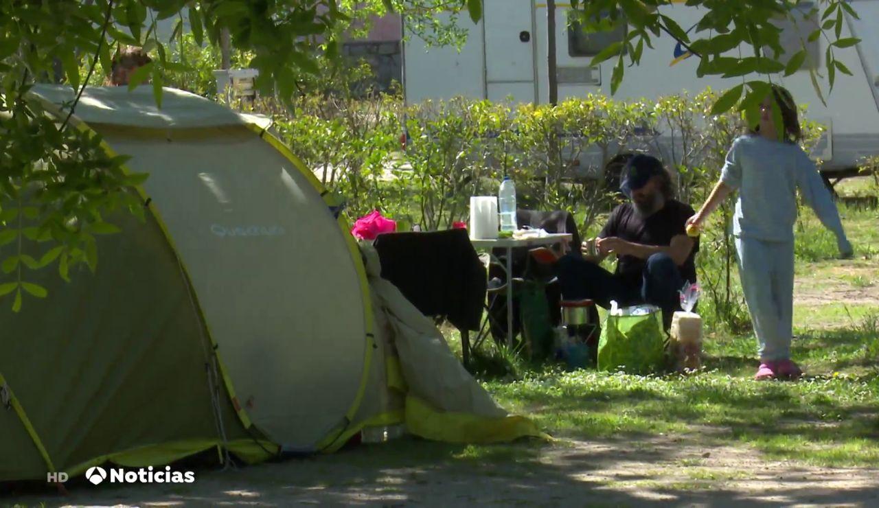 El camping, modelo de vivienda económico durante la pandemia del coronavirus