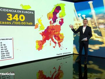 El mapa de los países de Europa y su situación con el coronavirus