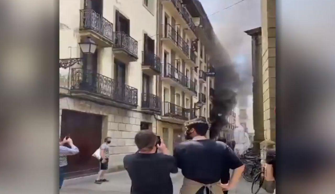 Incendio en un edificio en San Sebastián