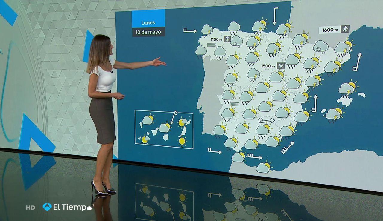 Tu Tiempo (09-05-21) Gran descenso de las temperaturas y lluvias en muchas áreas