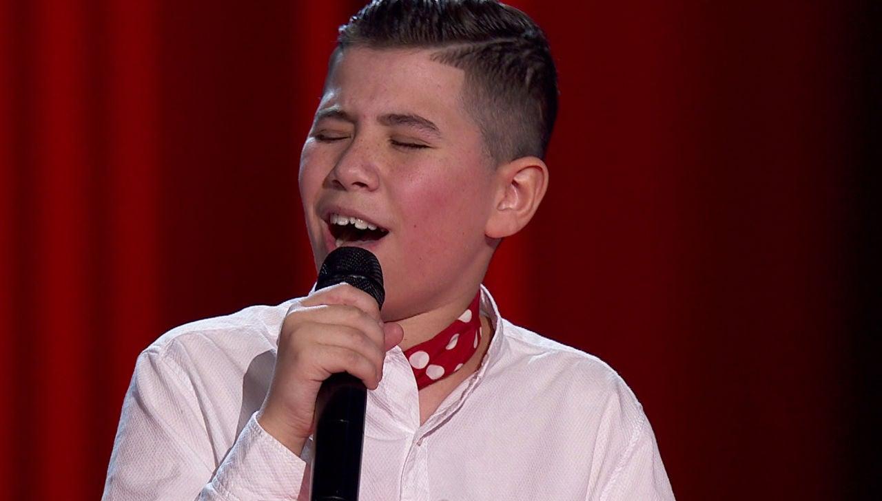 Juanmi Salguero rinde homenaje a La Marelu cantando por tango en 'La Voz Kids'