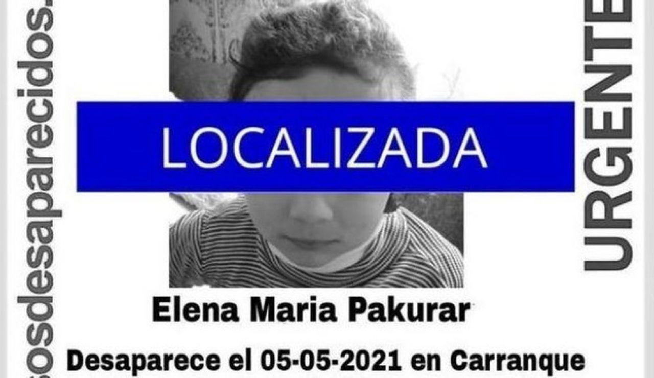 Elena Maria Pakurar, una niña localizada después de estar desaparecida