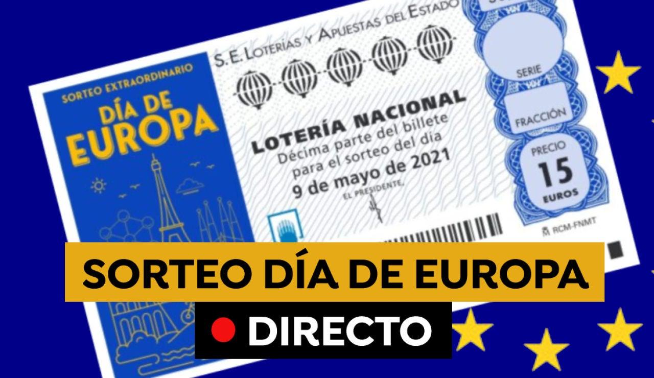 Lotería Nacional: Comprobar resultado del sorteo extraordinario del Día de Europa de hoy 9 de mayo, en directo