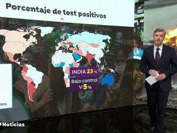 La dramática situación en la India deja 4 nuevos contagiados de coronavirus por segundo y dos muertos por minuto