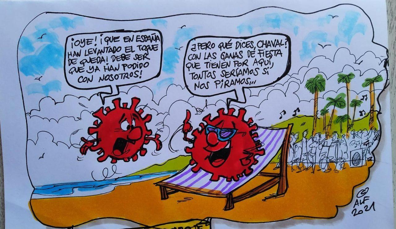 El fin del estado de alarma, en la viñeta gráfica de Alfredo Boto-Hervás