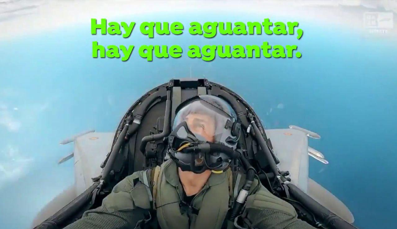 """El sufrimiento de Pedro de la Rosa en un Eurofighter: """"No veo nada, hay que aguantar"""""""