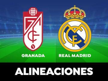 Granada - Real Madrid: Alineaciones del partido de la Liga Santander en directo