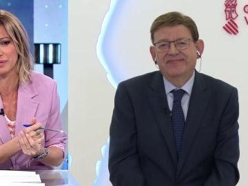 """Espejo Público (10-05-21) Ximo Puig, sobre el desarrollo de la pandemia: """"Tenemos que persistir mayo y junio para poder tener reactivación económica en verano"""""""