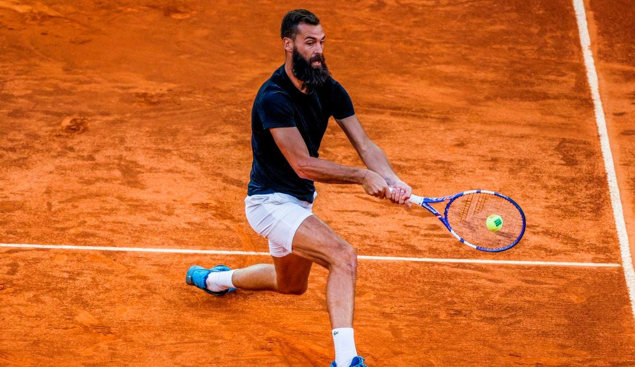 Benoit Paire la vuelve a liar en una pista de tenis: su último show en Roma