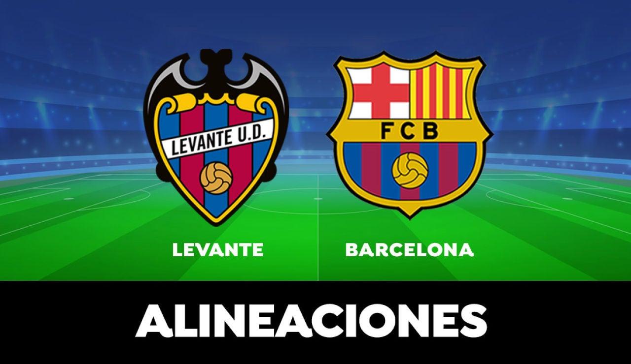 Alineación del Barcelona contra el Levante en el partido de hoy de la Liga Santander